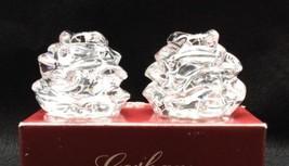 Gorham Floral Garden Rose Fine Crystal Salt & Pepper Shaker Set - $23.36