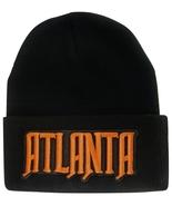 Atlanta City Name Men's Black Winter Knit Cuffed Beanie Skull Cap Hat - $9.95
