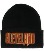 Cleveland City Name Men's Black Winter Knit Cuffed Beanie Skull Cap Hat - $9.95