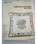 "Creative Stitchery Decorative Pillow Kit  Designed #2850 Embroidery  14""... - $27.25"