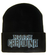 North Carolina Men's Black Winter Knit Cuffed Beanie Skull Cap Hat - $9.95
