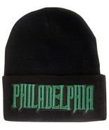 Philadelphia City Name Men's Black Winter Knit Cuffed Beanie Skull Cap Hat - $9.95
