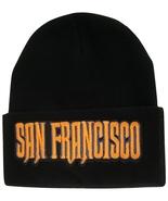 San Francisco City Name Men's Black Winter Knit Cuffed Beanie Skull Cap Hat - $9.95