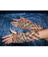 Rainbow Sherbet Fingerless Gloves in the Softes... - $22.00