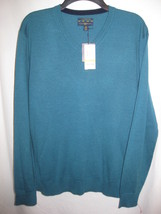 52% Merino Wool 48% Acrylic teal green sweater size M by Club Room NWT - €9,32 EUR