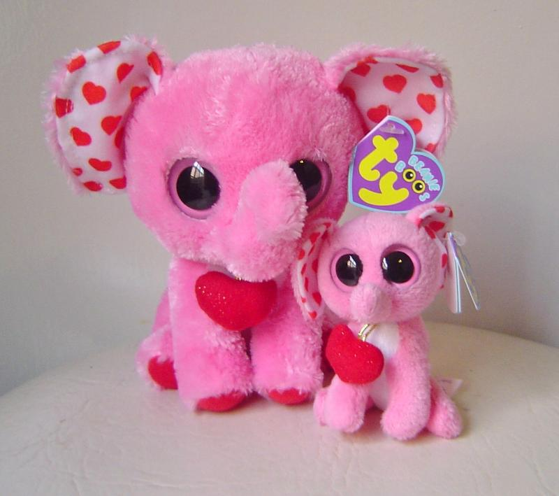 d6d128130e9 Img 740172401 1361729570. Img 740172401 1361729570. Ty Beanies Plush Elephants  Tender Mom   Baby Boo Clip ...