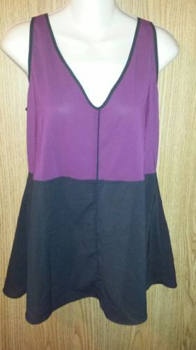 Narciso Rodriquez Womens Top Blouse Design Nation Sz S Wine Black - $12.99