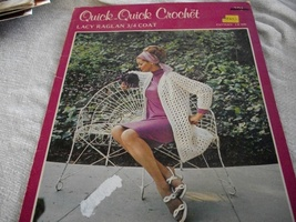 Quick-Quick Crochet Lacy Raglan 3/4 Coat - $4.00