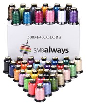 Polyester Embroidery Machine Thread Set (40 Spo... - $29.88
