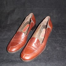 COLE HAAN CITY Brown Leather Loafers Women's 7 AA Made in ITALY Pumps Sl... - $29.65