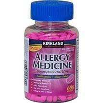 Kirkland Allergy Medicine Diphenhydramine HCL 25mg 600 Minitabs Generic ... - $11.29
