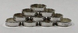 DELAWARE   SILVER PROOF  US STATE QUARTER COIN RING  SIZE 4 -12 - $24.99