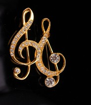 2 Music notes Brooch / vintage pair pins / music teacher gift / Piano MU... - $55.00