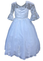 Girls White Special Occasion Dress  size 7 - $35.00