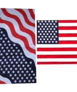 American Flag Bandanas 22 X 22 Red White Blue - $1.29