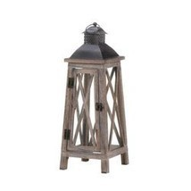 Watchtower Wood Candle Lantern (pack of 1 EA) - $20.95