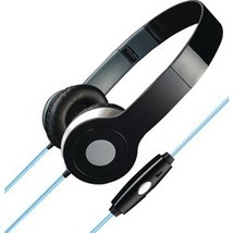 Ilive Stereo Designer Headphones With Microphone & Glowing Cable (black)... - $16.79