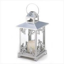 Silver Scrollwork Candle Lantern (pack of 1 EA) - $12.86