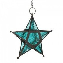 Blue Glass Star Lantern (pack of 1 EA) - $7.30