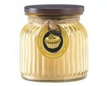 Butter Cream Ribbed Jar Candle (pack of 1 EA)