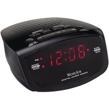 "Westclox .6"" Red Led Alarm Clock Radio (pack of 1 Ea) - $8.39"