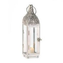Polished Metal Candle Lantern (pack of 1 EA) - €8,31 EUR
