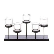 5 Cups Staggered Candleholder (pack of 1 EA) - $13.60