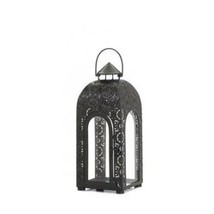 Arched Small Black Medallion Lantern (pack of 1 EA) - $20.95