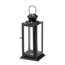 Black Colonial Rectangle Lantern (pack of 1 EA) - $6.89