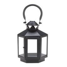 Black Hexagonal Candle Lantern (pack of 1 EA) - €8,52 EUR