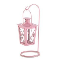 Pink Iron Railroad Hanging Lantern Pair (pack of 1 PR)