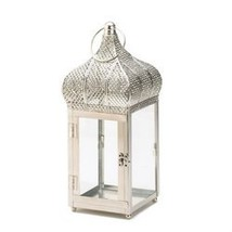 Captivating Silver Finish Square Lantern (pack of 1 EA) - €19,77 EUR