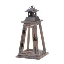 Elevate Wooden Candle Lantern (pack of 1 EA) - $25.70