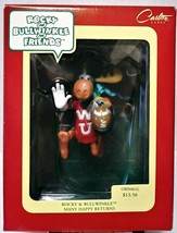 Carlton Cards Rocky And Bullwinkle Many Happy Returns Christmas Ornament - $28.00