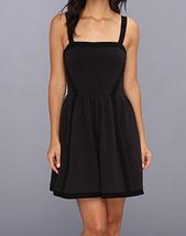 Juicy Couture Above Knee Mini Cocktail Spaghetti Strap Black Dress Size ... - $94.99
