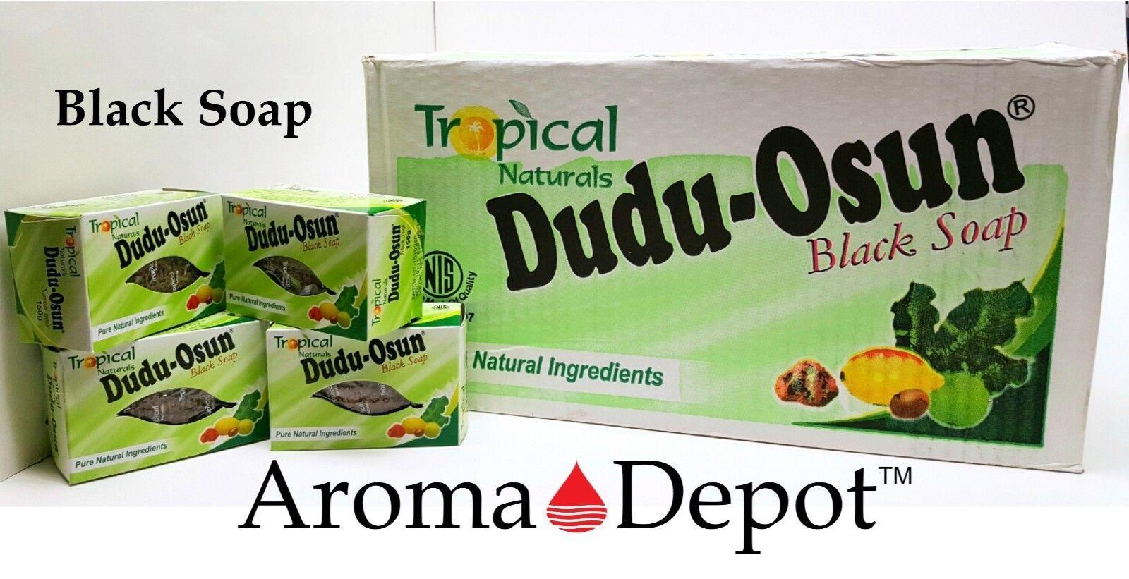 Dudu Osun Raw African Black Soap Organic Natural Unrefined  1 3 6 12 18 24 30 48 for sale  USA
