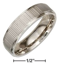 STAINLESS STEEL 6MM WEDDING BAND RING WITH COIN... - $14.00