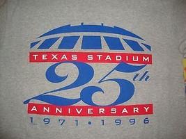 Vintage Nfl Texas Stadium 25th Anniversary Dallas Cowboys T Shirt Size L - $18.80