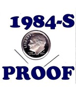 1984-S   ROOSEVELT DIME  PROOF  CONDITION+++.50c SHIPPING - €0,86 EUR