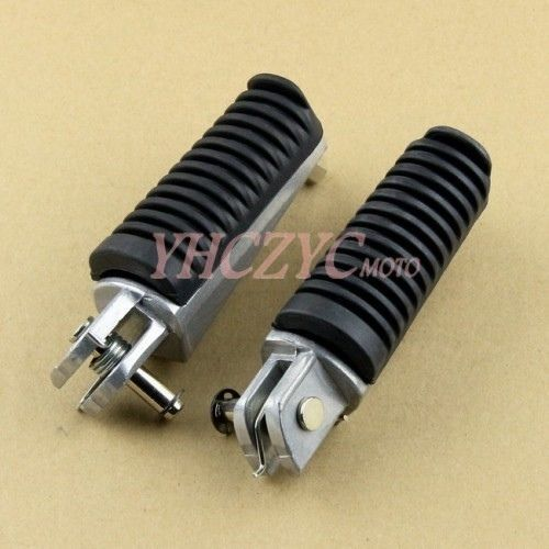 Foot Pegs Front Rider Footrest for Yamaha FZ1N FZ1S 2006-2013 FZ6N FZ6S 04-07