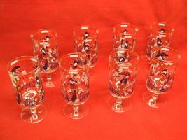 8 Oriental design Water Goblet - $10.00