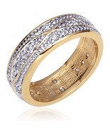 Gold Vermeil Cubic Zirconia Eternity Anniversary Band - $69.99