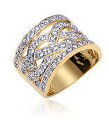 Gold Vermeil Cubic Zirconia Weave Ring - $74.99