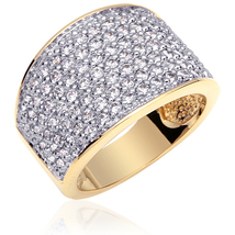 Gold Vermeil Multi CZ Fashion Ring - $74.99