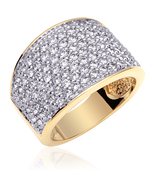 Gold Vermeil Multi CZ Fashion Ring - $69.99