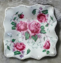 James Kent England Old Foley 4040 Roses - 3 in. Square Dish (A) - $14.99
