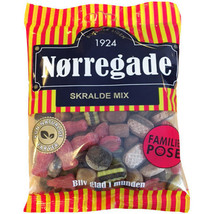 Nørregade Skralde Mix /Licorice Hard Candies 310g- Made in Denmark - $8.90