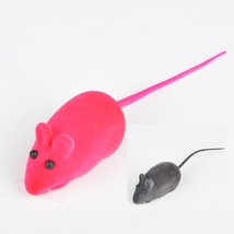 Funny Rubber Mice Cat Toys (Two Pack- Gray & Red)  - $4.99
