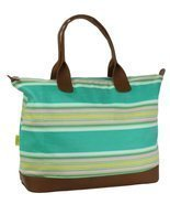 Amy Butler for Kalencom Meris Duffle Bag without Ribbon - Flatweave Stri... - $257.88 CAD