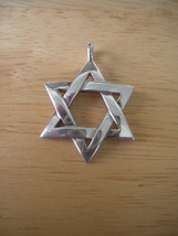 "Sterling Silver Star of David Pendant ~ 1 1/4"" long ~ 7.9g - $27.00"